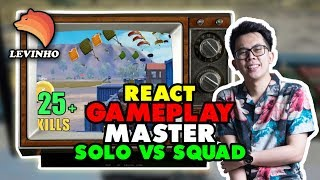 REACT GAMEPLAY MASTER SOLO VS SQUAD \