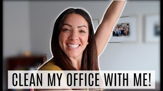 CLEAN MY OFFICE WITH ME! 2019 | Michelle Pearson Cleaning routine