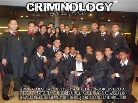 CRIMINOLOGY BATCH 2013