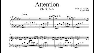 Attention Piano Sheet Music Charlie Puth