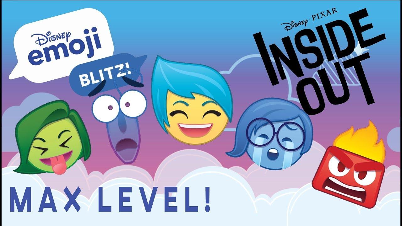 inside out max level - disney emoji blitz
