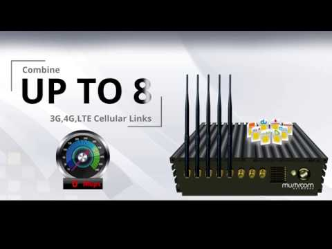 Utilize 8 Cellular 3G 4G Connections Simultaneously for Remote Branch Connectivity to Head Office