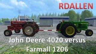 John Deere 4020 versus Farmall 1206 - Farming Simulator 15