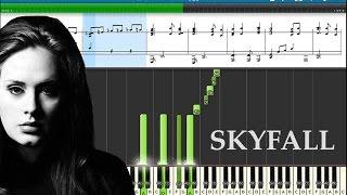 "Adele - Skyfall. Музыка из фильма ""Джеймс Бонд 007"".  Обучающее видео. Пианино"