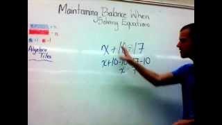 Algebra: Solving Equations in Grade 7