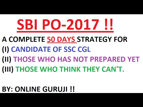 KILL SBI PO IN JUST 50 DAY'S --BY ONLINE GURUJI !!