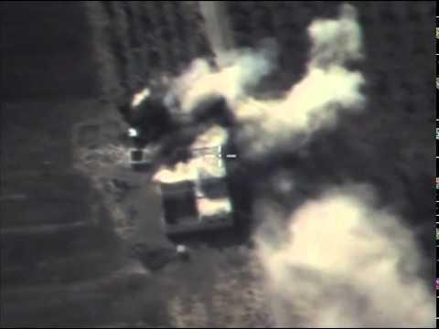Результат авиационного удара по опорному пункту террористов, расположенному в районе ТЭР-ТЬЯНА