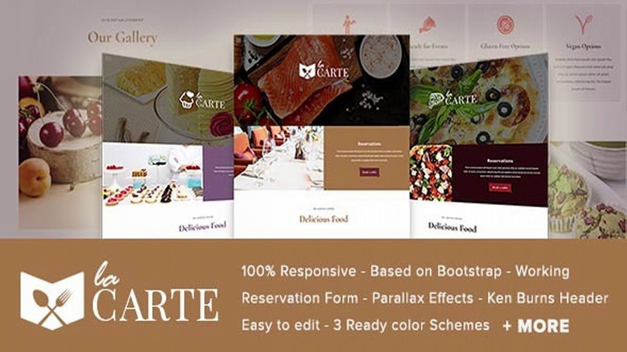 la carte - restaurant    food html5 template