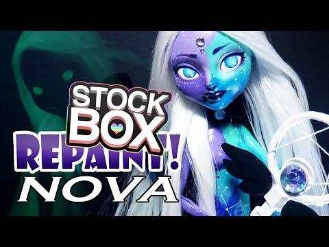 STOCK BOX Repaint! Nova Galaxy Custom OOAK Doll