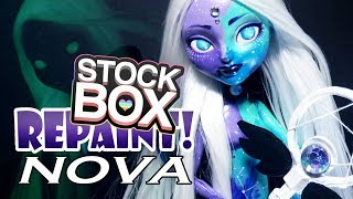 STOCK BOX Repaint! Nova Galaxy Custom OOAK Doll thumbnail