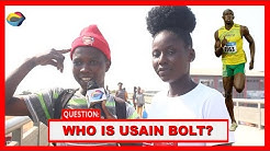 Who is USAIN BOLT?   Street Quiz   Funny Videos   Funny African Videos   African Comedy  