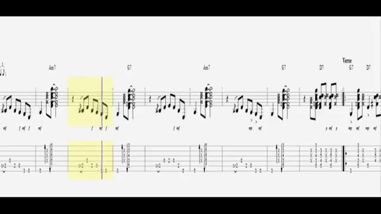 Jack Johnson Banana Pancakes Guitar Tab Hd Youtube