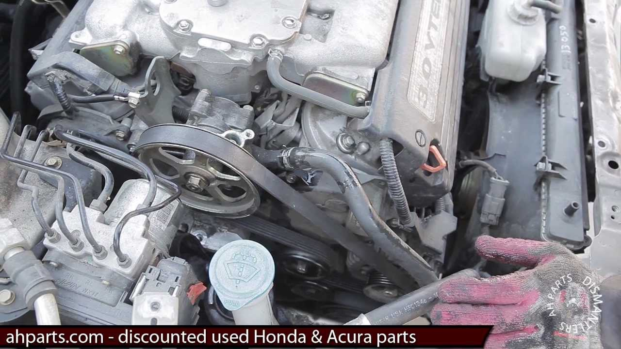 Pt 2 How To Replace 2003 2004 2005 2006 2007 Honda Accord Power Cr V Wiring Diagram Steering Pump Replacement Install Youtube