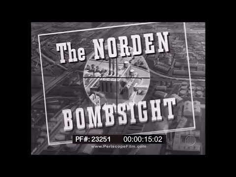 PRINCIPLES OF OPERATION OF THE NORDEN BOMBSIGHT  WWII TRAINING MOVIE 23251