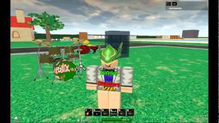 me playin the drums on roblox