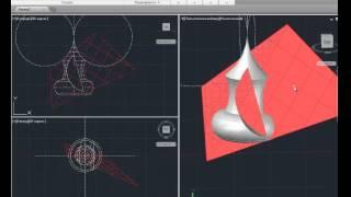 [AutoCAD 3D] Построение плоского сечения поверхности ракеты