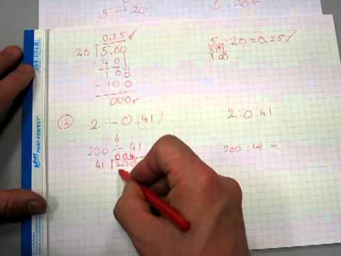 Divide decimal numbers