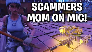 Scammer Puts MOM! on Mic! 🎙🤣 (hilarious) - Scammer Get Scammed in Fortnite Save The World
