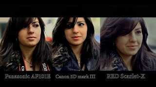 RED Scarlet-X VS. Canon 5D mark III VS. Panasonic AF101E