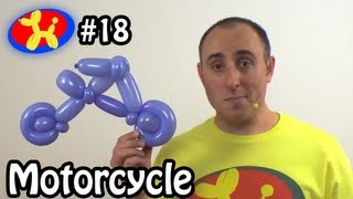 Two Balloon Motorcycle / Bicycle - Balloon Animal Lessons #18