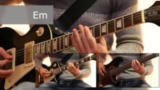 Как играть на гитаре Воспоминания о былой любви - Король и шут  ( видеоурок Guitar riffs) + табы