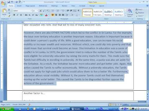 Essay About Water Pollution  Reflective Essay On Group Work also Essays About Feminism Ss Structured Essay Question Sri Lanka   Youtube Best Speech Essay