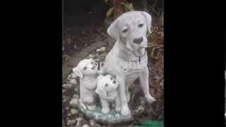 Several Dog Concrete Statues For Yard German Shepherd Westie Labrador Puppy Eskimo Husky Dalmation