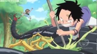 ONE PIECE Luffy y Ace de pequeños