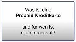 Was ist eine Prepaid  Kreditkarte - Kreditkartenvergleich