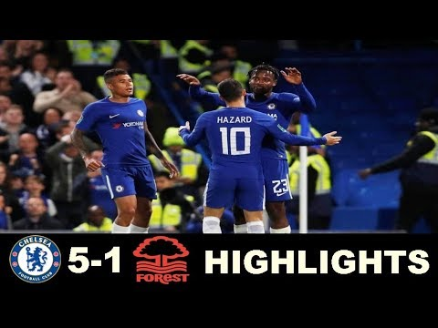 Chelsea vs Nottingham Forest 5-1 - Extended Highlights - Carabao Cup 20/09/2017