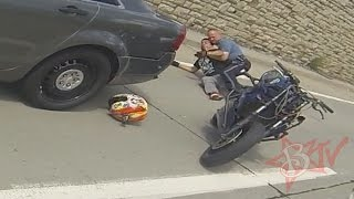 Motorcycle Wheelies Into Police Car Rider Arrested By Cops Raw Footage Bike VS Cop Wheelie FAIL