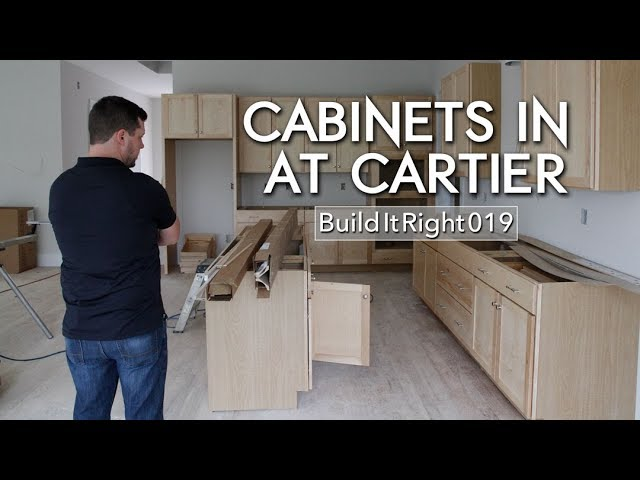 Cabinets in at Cartier | #BuildItRight 019