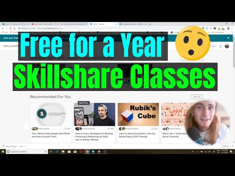 How To Get Skillshare Classes For Free For A Year