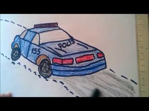 Polis Arabasi Nasil çizilir Youtube