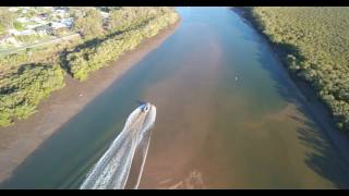 Boat Running Aground - Tingalpa Creek - Typhoon H
