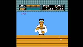 NES: The Karate Kid: Bonus Stage Chopsticks Fly Catch Walkthrough. [HD]