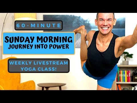 60-Minute Sunday Morning Journey Into Power Vinyasa Baptiste Yoga Flow All-Levels Livestream Class