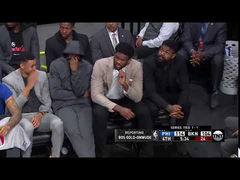 Bo and Jim - Philadelphia 76ers Bench reacts to smelling something funny....