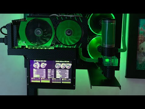PC LCD Case Mod With Temps And Stats