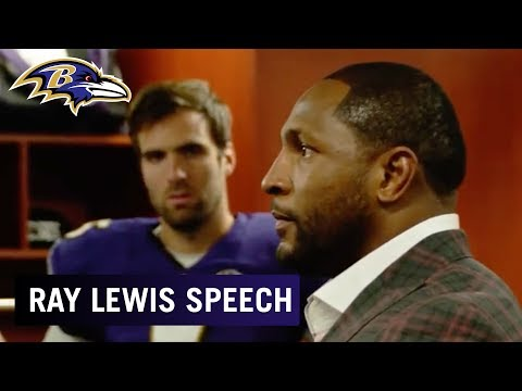 Watch Ray Lewis' Inspiring Locker Room Speech