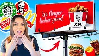 خليت إعلانات الأكل اللي بالشارع تحدد أكلي ليوم كامل!!! 😱 *صدددددمة* 🔥