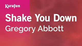 Karaoke Shake You Down - Gregory Abbott *