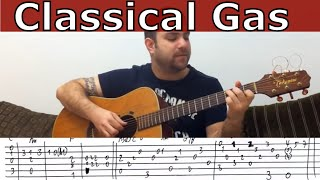 Tutorial: Classical Gas - Fingerstyle Guitar w/ TAB