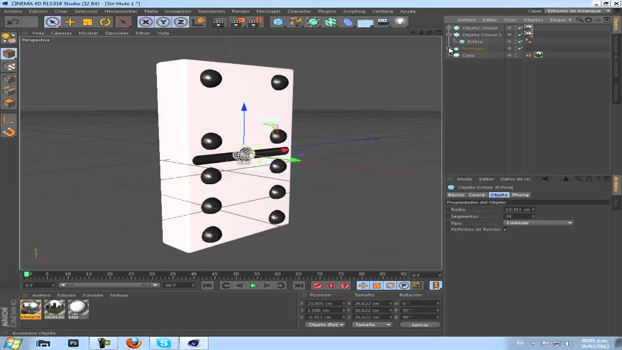 Como hacer una ficha de domino en cinema 4d realista for Fichas de domino