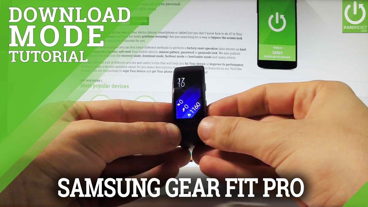 How to Enter Download Mode in SAMSUNG Gear Fit 2 Pro