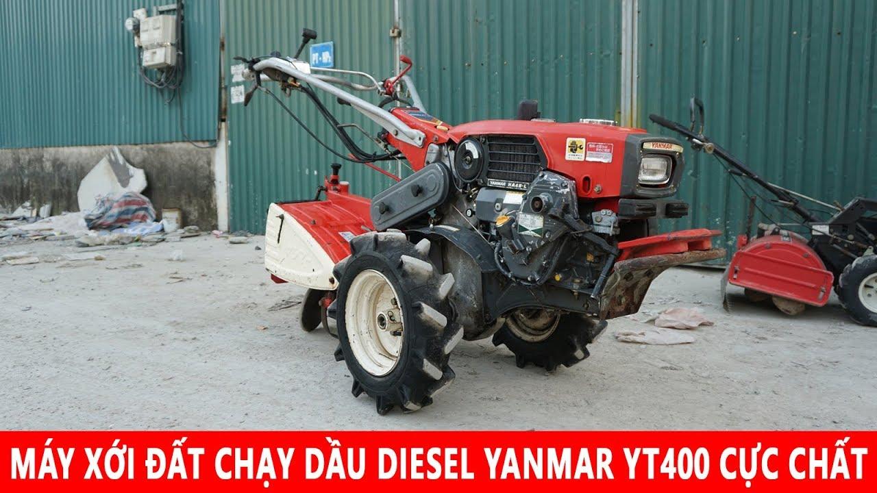 Máy Xới Đất Chạy Dầu Diesel Yanmar YT400 Cực Đẹp Và Chất Phay Sau
