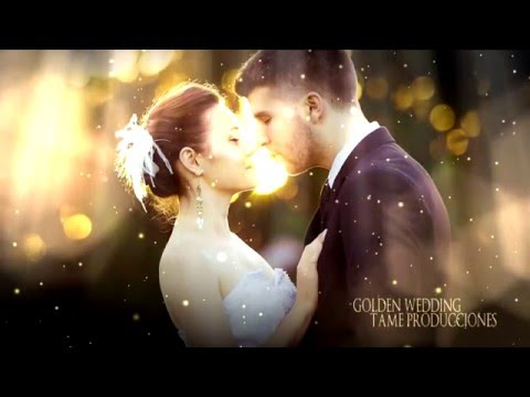 FREE TEMPLATE SONY VEGAS PRO 11 - 12 - 13 - GOLDEN WEDDING ll [TAME PRODUCCIONES]