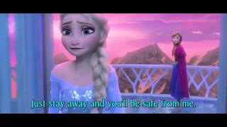 Repeat youtube video FROZEN - For the First Time in Forever Anna and Elsa - Official Disney (3D Movie Clip) - With Words
