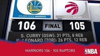 Golden State Warriors 106 - 105 Toronto Raptors