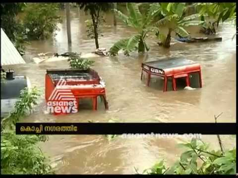 Kerala Floods : Water level in Kochi  rises